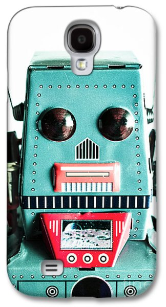 Retro Eighties Blue Robot Galaxy S4 Case