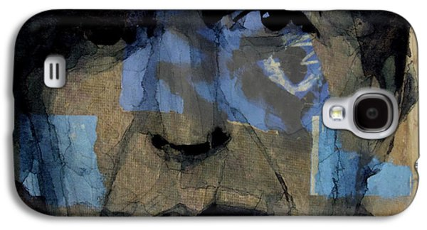Retro- Famous Blue Raincoat  Galaxy S4 Case by Paul Lovering
