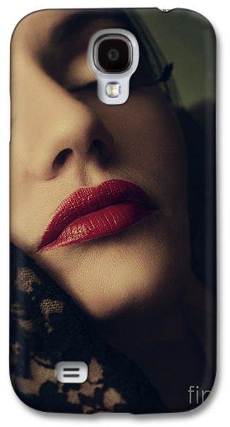 Retro Female Portrait Galaxy S4 Case