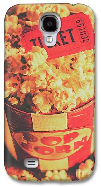Retro Film Stub And Movie Popcorn Galaxy S4 Case by Jorgo Photography - Wall Art Gallery