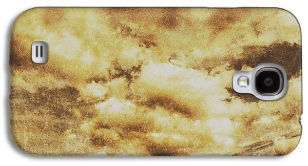 Retro Grunge Cloudy Sky Background Galaxy S4 Case by Jorgo Photography - Wall Art Gallery