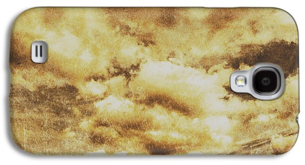 Retro Grunge Cloudy Sky Background Galaxy S4 Case