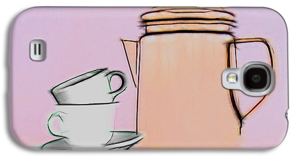 Retro Style Coffee Illustration Galaxy S4 Case by Tom Mc Nemar