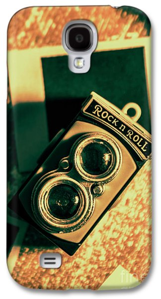 Retro Toy Camera On Photo Background Galaxy S4 Case by Jorgo Photography - Wall Art Gallery