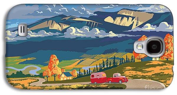 Autumn Landscape Galaxy S4 Case - Retro Travel Autumn Landscape by Sassan Filsoof