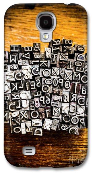 Retro Typesetting In Print Galaxy S4 Case