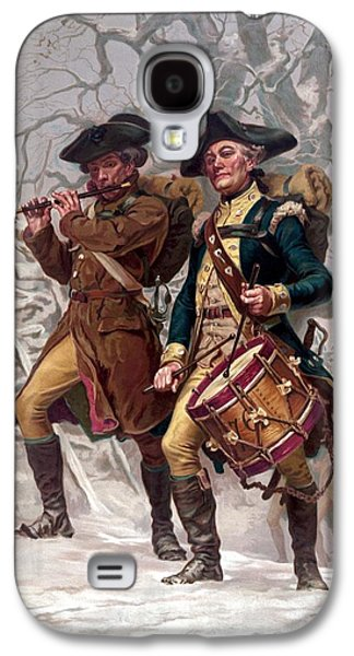 Revolutionary War Soldiers Marching Galaxy S4 Case by War Is Hell Store