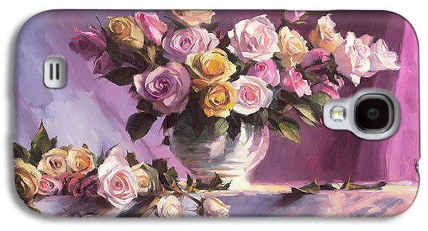 Peach Galaxy S4 Case - Rhapsody Of Roses by Steve Henderson