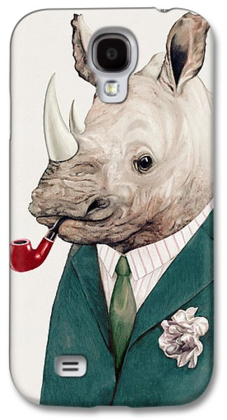 Rhino In Teal Galaxy S4 Case by Animal Crew