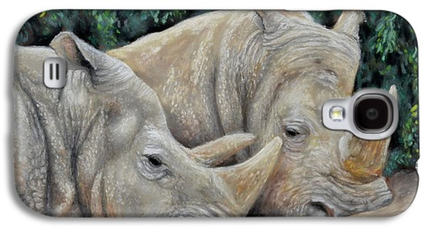 Rhinos Galaxy S4 Case by Sam Davis Johnson