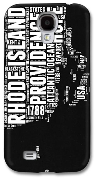 Rhode Island Black And White Map Galaxy S4 Case by Naxart Studio