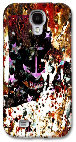 Rhode Island Paint Splatter Galaxy S4 Case by Brian Reaves