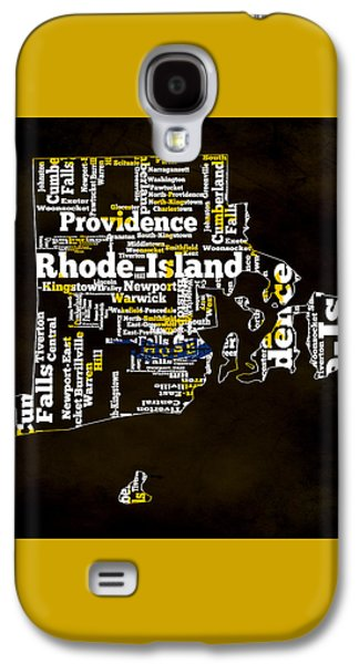 Rhode Island Typographic Map Galaxy S4 Case