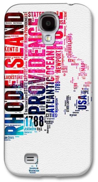 Rhode Island Watercolor Word Cloud Galaxy S4 Case