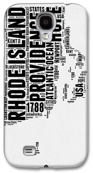Rhode Island Word Cloud 1 Galaxy S4 Case by Naxart Studio