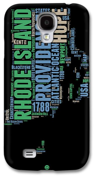 Rhode Island Word Cloud 2 Galaxy S4 Case by Naxart Studio