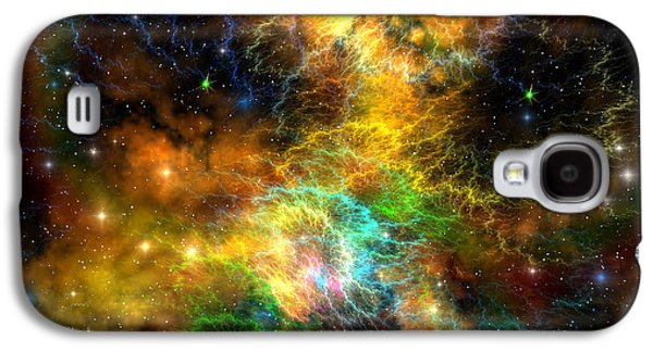 Ribbon Nebula Galaxy S4 Case