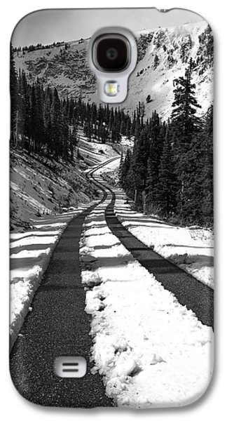 Ribbon To The Unknown Monochrome Art By Kaylyn Franks Galaxy S4 Case by Kaylyn Franks