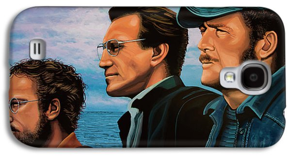 Jaws With Richard Dreyfuss, Roy Scheider And Robert Shaw Galaxy S4 Case by Paul Meijering
