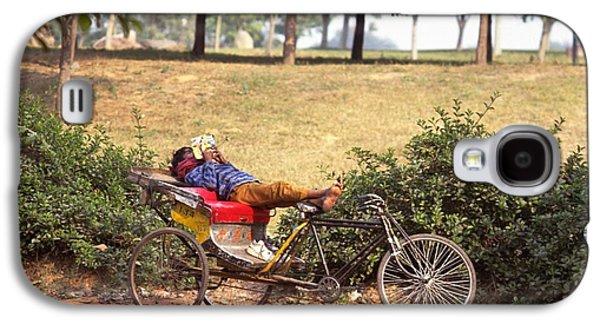 Rickshaw Rider Relaxing Galaxy S4 Case