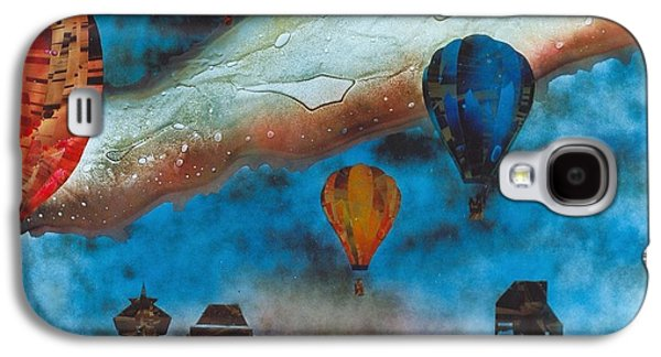 Landscapes Glass Art Galaxy S4 Cases - Riding the Chinook Galaxy S4 Case by Rick Silas