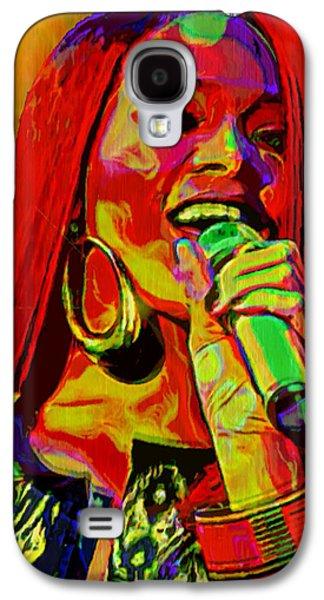 Rihanna Galaxy S4 Cases - Rihanna 2 Galaxy S4 Case by  Fli Art
