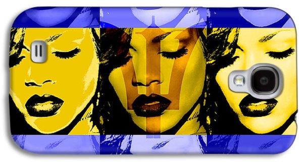 Rihanna Galaxy S4 Cases - Rihanna Warhol Barbados by GBS Galaxy S4 Case by Anibal Diaz
