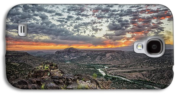 Rio Grande River Sunrise 2 - White Rock New Mexico Galaxy S4 Case by Brian Harig