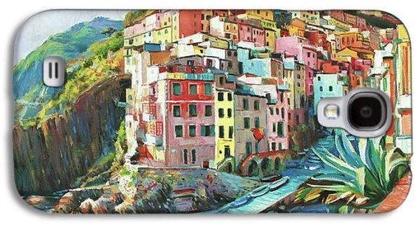 Mediterranean Landscape Galaxy S4 Cases - Riomaggiore Italy Galaxy S4 Case by Conor McGuire