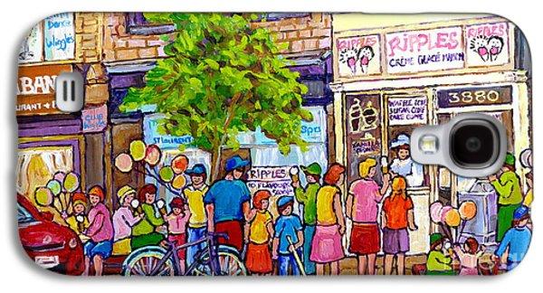 Ripples Ice Cream Shop Rue St Laurent Street Party Balloon Fun Montreal Art Carole Spandau Galaxy S4 Case