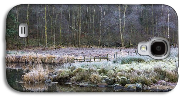 River Brathay Reflections And Silver Birch Galaxy S4 Case by Tony Higginson