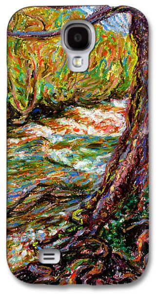 Tree Roots Pastels Galaxy S4 Cases - River Hafren in September Galaxy S4 Case by Alexandra Cook