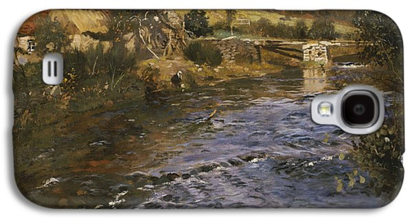 River Landscape With A Washerwoman  Galaxy S4 Case