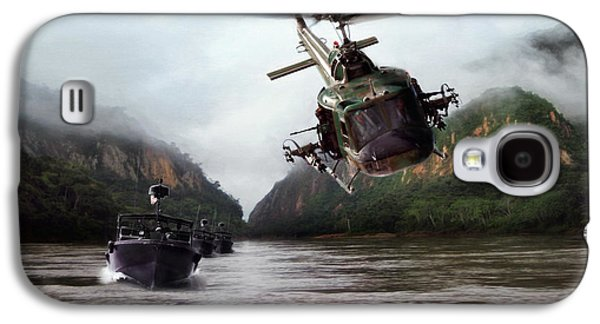 Helicopter Galaxy S4 Case - River Patrol by Peter Chilelli