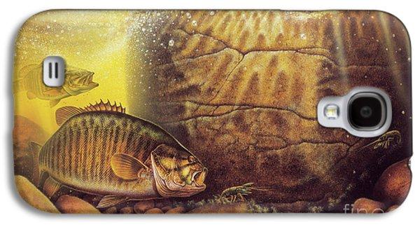 River Smallmouth Galaxy S4 Case by Jon Wright