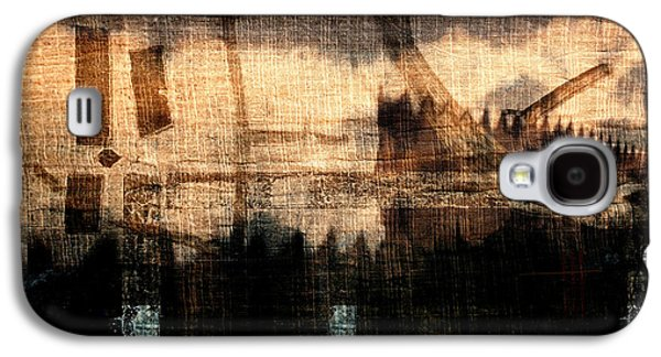 River Walk Shadows Galaxy S4 Case by Carol Leigh