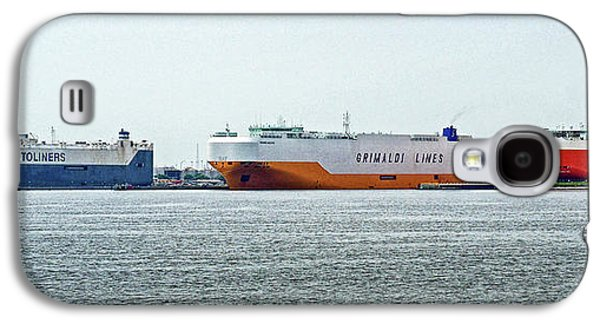Galaxy S4 Case featuring the photograph Ro Ro Freighters Lined Up At Curtis Bay by Bill Swartwout Fine Art Photography
