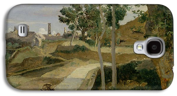 Road From Volterra Galaxy S4 Case by Jean Baptiste Camille Corot