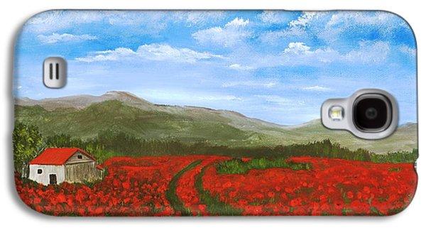 Road Through The Poppy Field Galaxy S4 Case by Anastasiya Malakhova