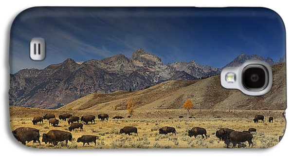 Roaming Bison Galaxy S4 Case by Mark Kiver