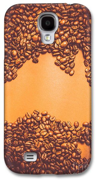 Roasted Australian Coffee Beans Background Galaxy S4 Case by Jorgo Photography - Wall Art Gallery