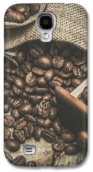 Roasted Coffee Beans In Close-up  Galaxy S4 Case by Jorgo Photography - Wall Art Gallery