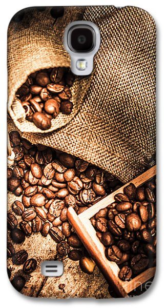 Roasted Coffee Beans In Drawer And Bags On Table Galaxy S4 Case by Jorgo Photography - Wall Art Gallery