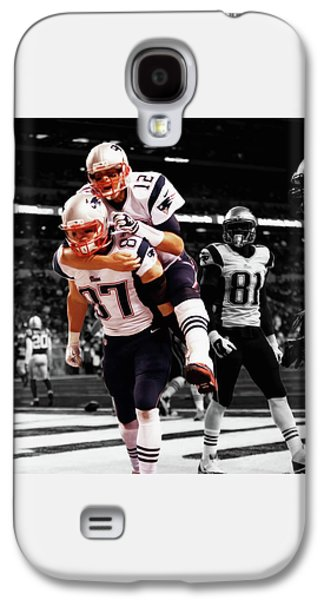 Rob Gronkowski And Tom Brady Galaxy S4 Case by Brian Reaves