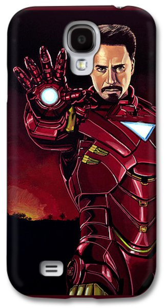 Robert Downey Jr. As Iron Man  Galaxy S4 Case