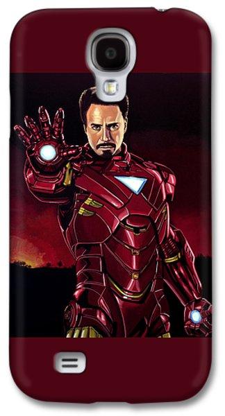 Robert Downey Jr. As Iron Man  Galaxy S4 Case by Paul Meijering