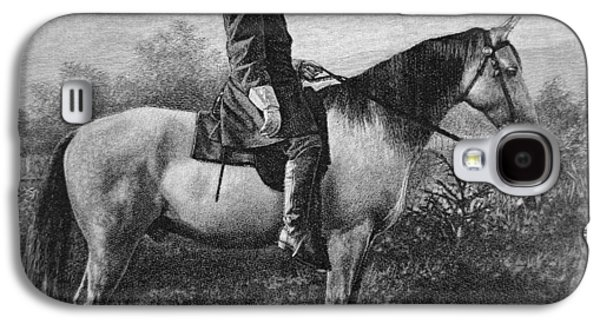 Robert E Lee On His Horse Traveler Galaxy S4 Case by American School