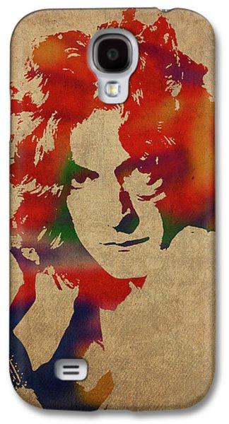 Robert Plant Galaxy S4 Case - Robert Plant Led Zeppelin Watercolor Portrait by Design Turnpike