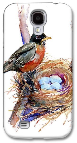 Robin With Nest Galaxy S4 Case