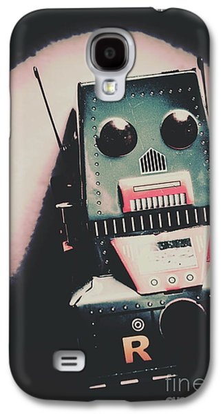 Robotic Mech Under Vintage Spotlight Galaxy S4 Case